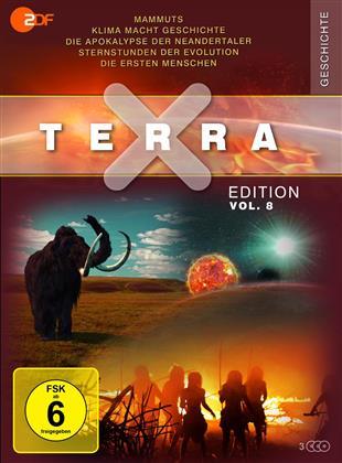 Terra X Edition - Vol. 8: Mammuts / Klima macht Geschichte / Die Apokalypse der Neandertaler / Sternstunden der Evolution / Die ersten Menschen (Schuber, Digipack, 3 DVDs)