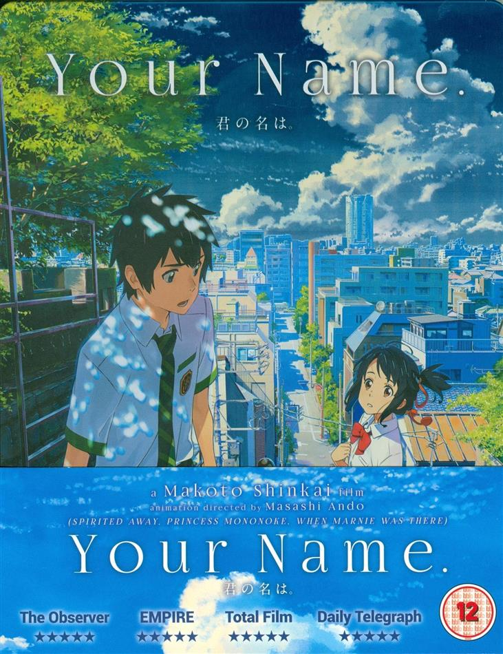 Your Name. (2016) (Collector's Edition, Steelbook, Blu-ray + DVD + CD)