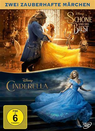Die Schöne und das Biest (2017) / Cinderella (2015) (Double Feature, 2 DVDs)