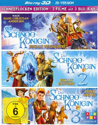 Die Schneekönigin 1-3 (Box, 3 Blu-ray 3D (+2D))