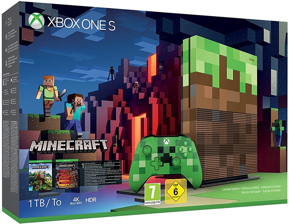 XBOX ONE S Console 1 TB - Minecraft Bundle (Limited Edition)