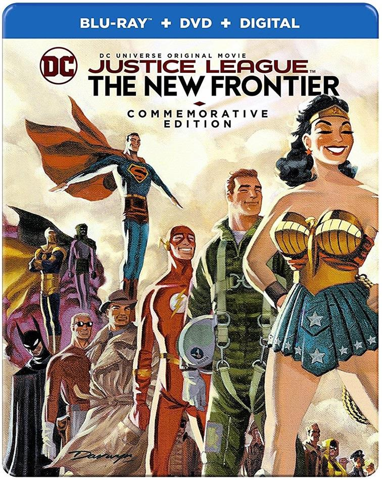 Justice League - The New Frontier (2008) (Commemorative Edition, Steelbook, Blu-ray + DVD)