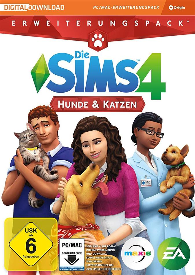 Die Sims 4 - Addon Cats & Dogs - Code in a Box (German Edition)