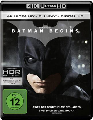 Batman Begins (2005) (4K Ultra HD + Blu-ray)