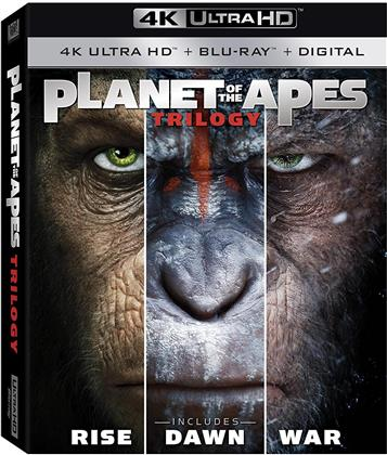 Planet Of The Apes Trilogy - Rise / Dawn / War (3 4K Ultra HDs + 3 Blu-rays)