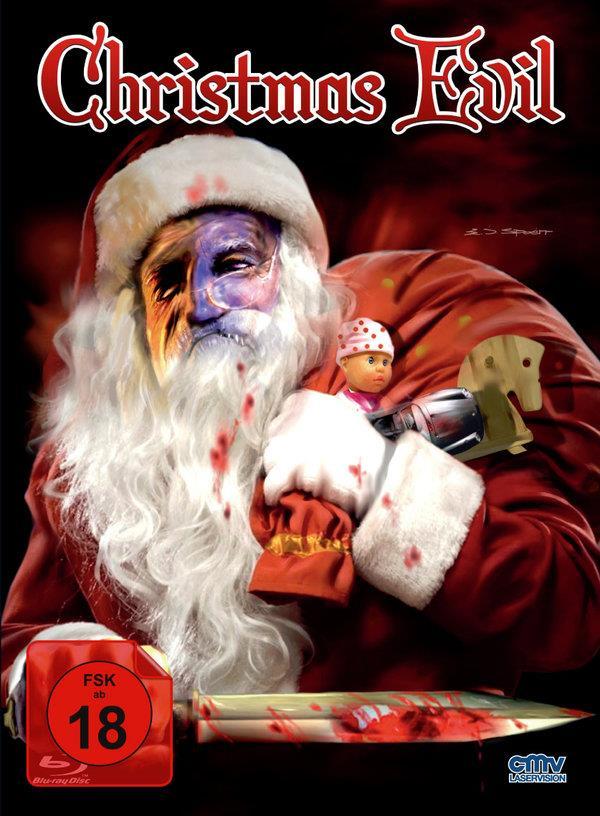 Christmas Evil (1980) (Cover B, Limited Edition, Mediabook, Uncut, Blu-ray + DVD)