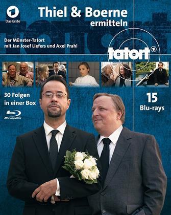 Tatort - Münster - Thiel & Börne ermitteln - Fall 1-30 - Komplettbox (15 Blu-rays)