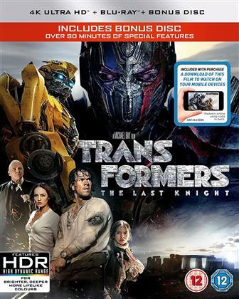 Transformers 5 - The Last Knight (2017) (4K Ultra HD + 2 Blu-rays)