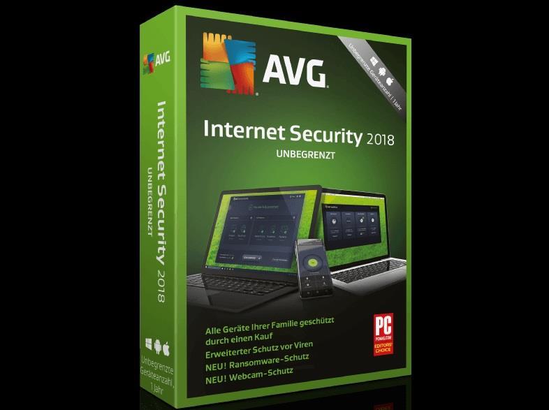 AVG Internet Security 2018 [unbegrenzte Lizenzen]