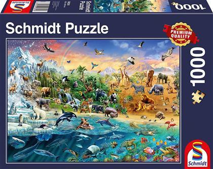 Die Welt der Tiere - 1000 Teile Puzzle