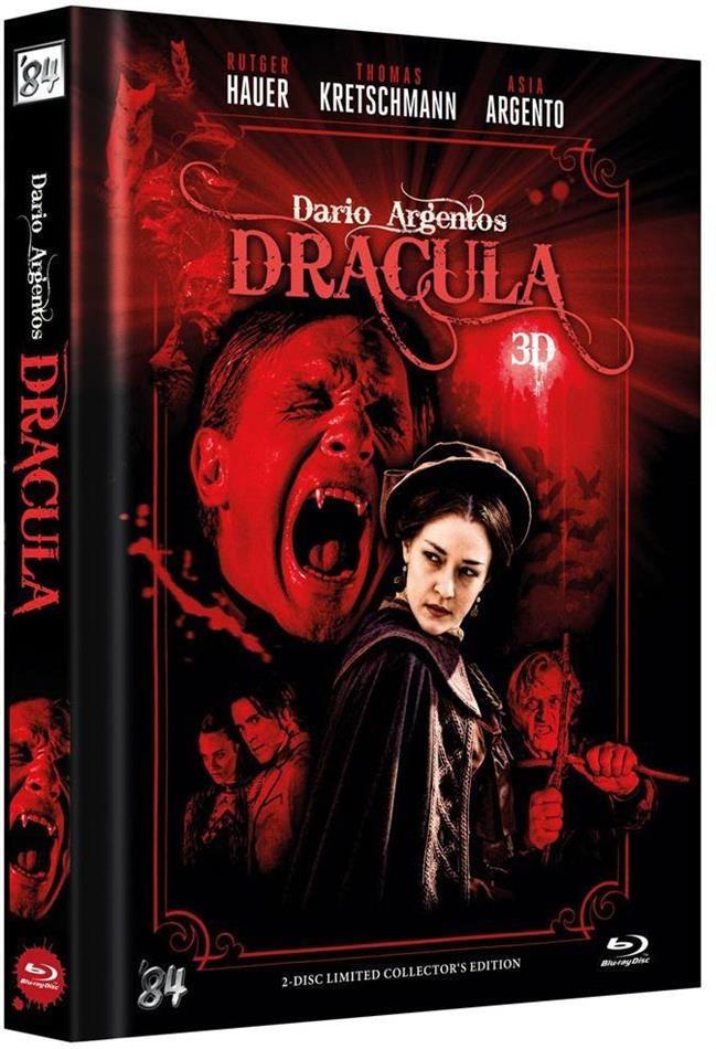 Dario Argentos Dracula (2012) (Cover A, Collector's Edition, Edizione Limitata, Mediabook, Blu-ray 3D + DVD)