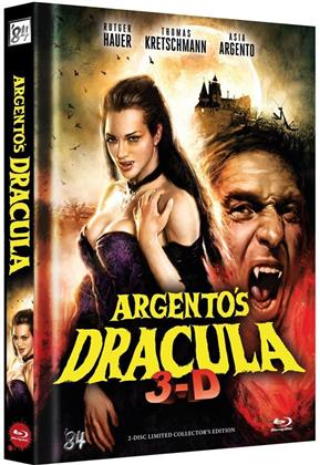 Argento's Dracula (2012) (Cover B, Collector's Edition, Limited Edition, Mediabook, Uncut, Blu-ray 3D + DVD)