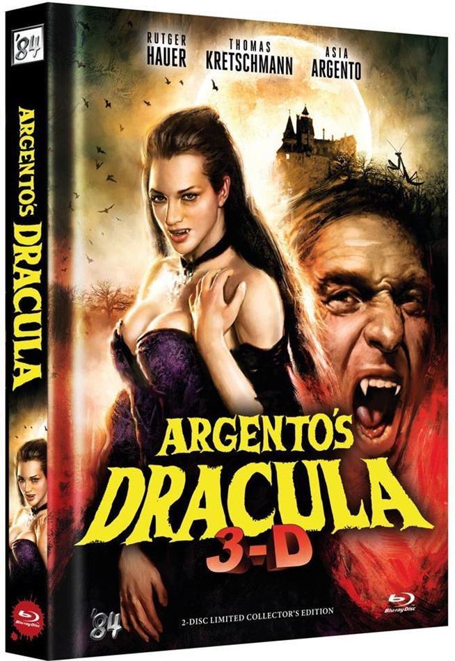 Argento's Dracula (2012) (Cover B, Collector's Edition, Edizione Limitata, Mediabook, Uncut, Blu-ray 3D + DVD)