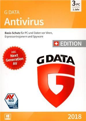 GData AntiVirus 2018 Swiss Edition (3 PC)