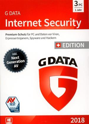 GData Internet Security 2018 Swiss Edition (3 PC)