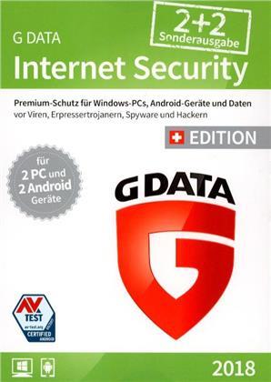 GData Internet Security 2018 Sonderausgabe 2+2 Swiss Edition