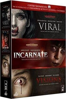 Coffret Blumhouse - Viral / Incarnate / Visions (3 DVDs)