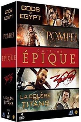 Coffret épique - Pompéi / Gods of Egypt / La Colère des titans / 300 : la naissance d'un empire (4 DVDs)