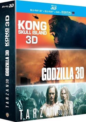 Kong : Skull Island / Godzilla / Tarzan (Blu-ray 3D + Blu-ray + DVD)