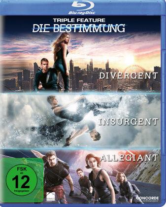 Die Bestimmung - Triple Feature - Divergent / Insurgent / Allegiant (3 Blu-rays)