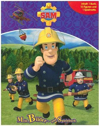 Feuerwehrmann Sam - Spielbuch + 12 Spielfiguren + Spielmatte