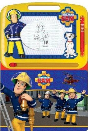 Feuerwehrmann Sam - Spielbuch + Zaubertafel zum Schreiben