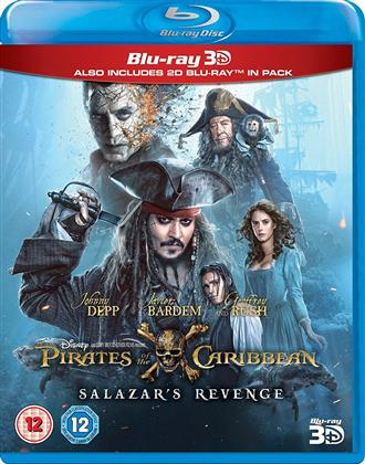 Pirates of the Caribbean 5 - Salazars Revenge (2017) (Blu-ray 3D + Blu-ray)