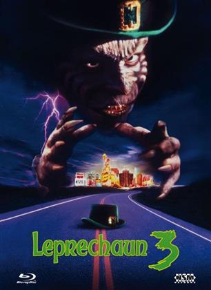 Leprechaun 3 (1995) (Cover B, Collector's Edition, Edizione Limitata, Mediabook, Blu-ray + DVD)