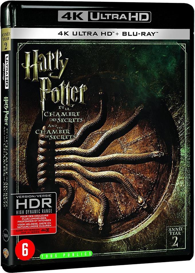Harry Potter et la chambre des secrets (2002) (Extended Edition, Kinoversion, 4K Ultra HD + Blu-ray)