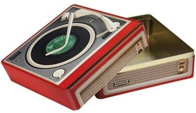 "Vintage Audio - Blechdose ""Record Player"" - Plattenspieler Keksdose"