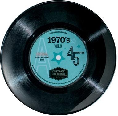 "Vintage Audio - Melamin Teller ""70's"" - 1 Stück"
