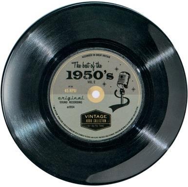 "Vintage Audio - Melamin Teller ""50's"" - 1 Stück"