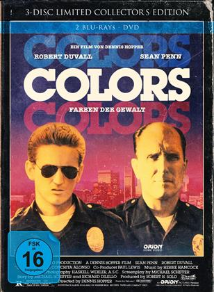 Colors - Farben der Gewalt (1988) (Cover B, Extended Edition, Kinoversion, Limited Edition, Mediabook, Uncut, 2 Blu-rays + DVD)
