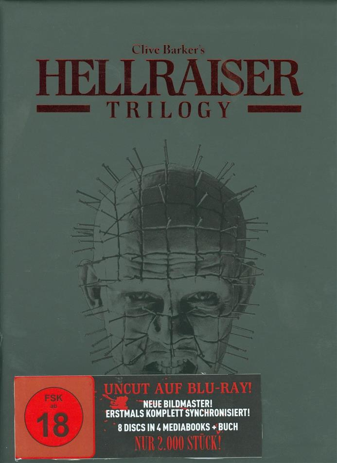 Hellraiser - Trilogy (Black Box, Limited Edition, Mediabook, Remastered, Uncut, 4 Blu-rays + 4 DVDs + Buch)