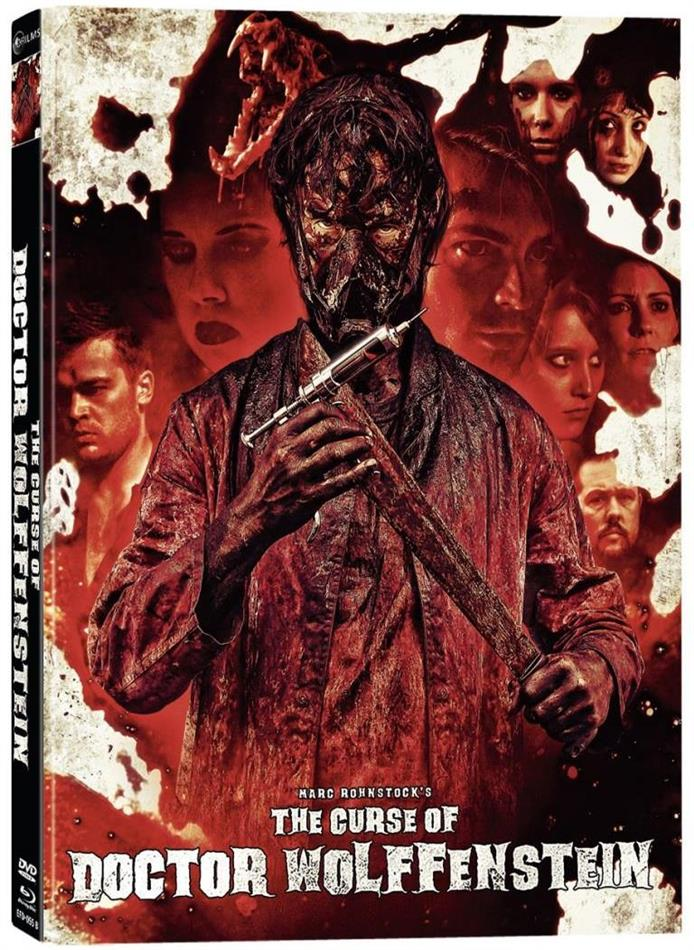 The Curse of Doctor Wolffenstein (2015) (Cover B, Director's Cut, Limited Edition, Mediabook, Unrated, Blu-ray + DVD)