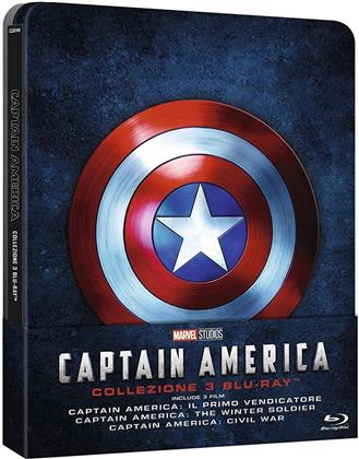 Captain America Collezione (Steelbook, 3 Blu-rays)