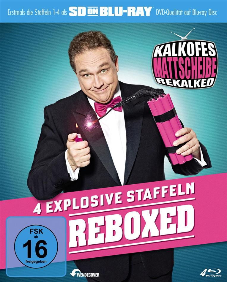 Kalkofes Mattscheibe - Rekalked - Staffel 1-4 (Reboxed, SD on Bluray, 4 Blu-rays)