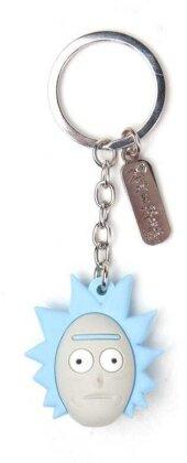 Porte-clef 3D Rubber - Tête de Rick - Rick et Morty