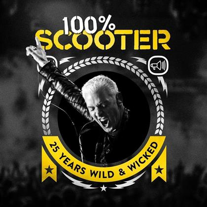 Scooter - 100% Scooter - 25 Years Wild & Wicked (Box, Deluxe Edition, 5 CDs + LP + Audiokassette)