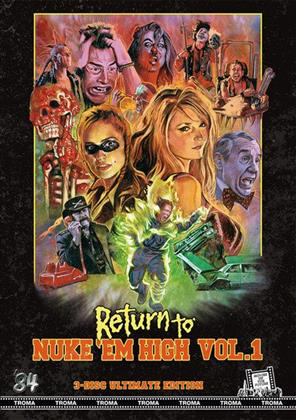 Return to Nuke 'Em High - Vol. 1 (2013) (Kleine Hartbox, Ultimate Edition, Uncut, Blu-ray + 2 DVDs)
