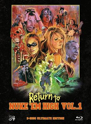 Return to Nuke 'Em High - Vol. 1 (2013) (Limited Edition, Mediabook, Ultimate Edition, Uncut, Blu-ray + 2 DVDs)