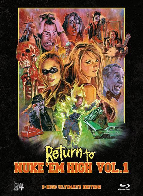 Return to Nuke 'Em High - Vol. 1 (2013) (Limited Edition, Mediabook, Ultimate Edition, Uncut, Blu-ray + 2 DVDs)