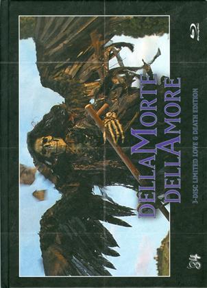 Dellamorte Dellamore (1994) (Cover B, Love & Death Edition, Limited Edition, Mediabook, Uncut, Blu-ray 3D + Blu-ray + DVD)