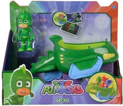 PJ Masks: Gecko mit Geckomobil - Figur