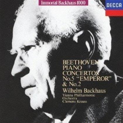Wilhelm Backhaus, Ludwig van Beethoven (1770-1827), Clemens Krauss & Wiener Philharmoniker - Klavierkonzerte Nr. 2 & 5 (Limited Edition)