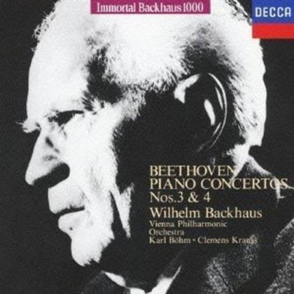 Wilhelm Backhaus, Ludwig van Beethoven (1770-1827), Clemens Krauss & Wiener Philharmoniker - Klavierkonzerte Nr. 3 &4 (Limited Edition)