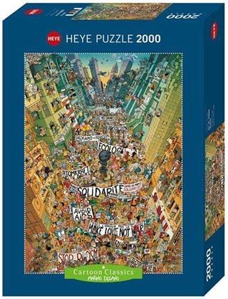 Marino Degano: Protest! - 2000 Teile Puzzle