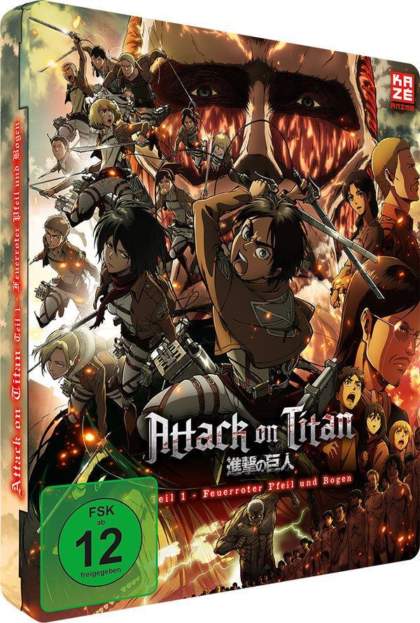 Attack on Titan - Anime Movie Teil 1 - Feuerroter Pfeil und Bogen (2014) (Limited Edition, Steelbook)