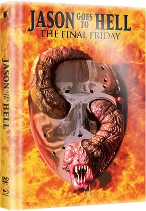 Jason Goes to Hell - The Final Friday (1993) (Limited Edition, Langfassung, Mediabook, Uncut, Blu-ray + DVD)
