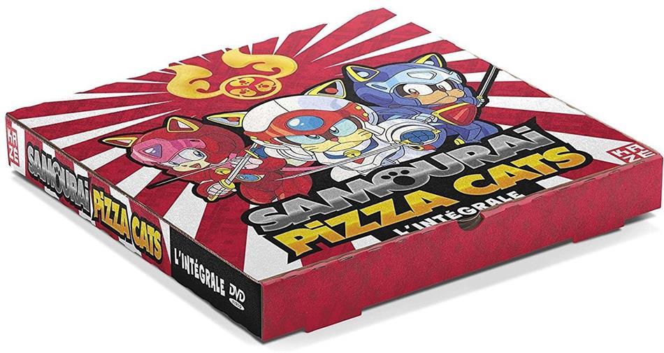 Samourai Pizza Cats - L'Intégrale (Boite à Pizza, Unzensiert, Collector's Edition, Limited Edition, Remastered, 16 DVDs)